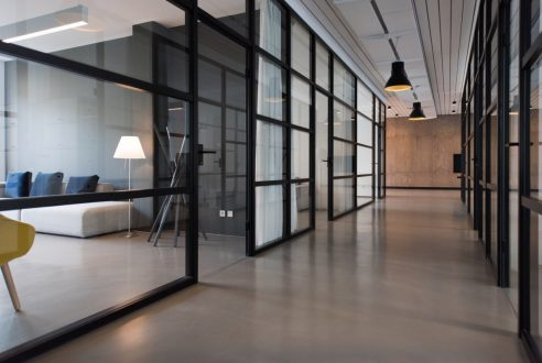 A Hallway in an Elegant Office